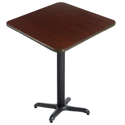 Laminate Reversible Restaurant Bar Table In Black / Mahogany