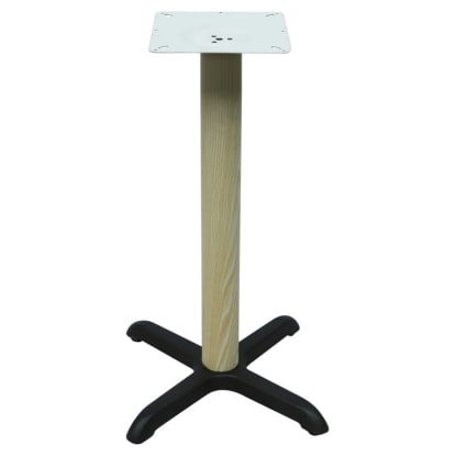 "Premium Wood Look X Prong Table Base (42"" Bar Height)"