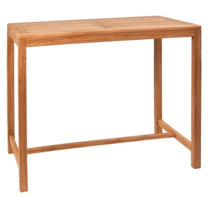 Teak Wood Outdoor Restaurant Table - Bar Height