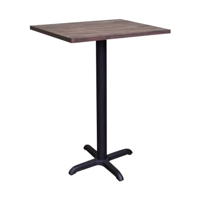 Industrial Series Bar Table with Wood Top and X Prong Base