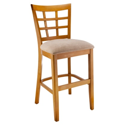 Premium US Made Window Back Wood Counter Stool