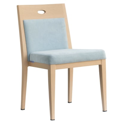 Orson Ultra Modern Padded Wood Grain Aluminum Chair