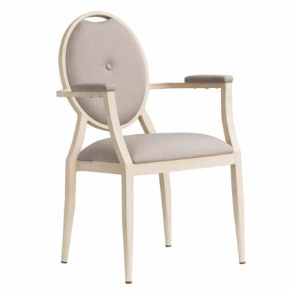 Venus Padded Aluminum Arm Chair