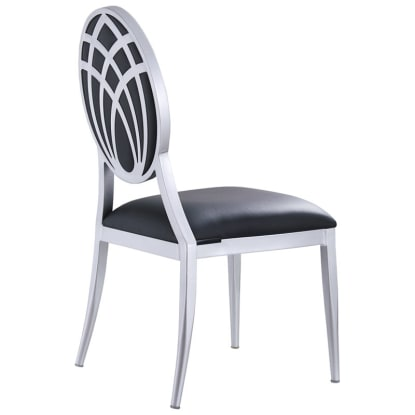 Deco Lotus Back Aluminum Chair