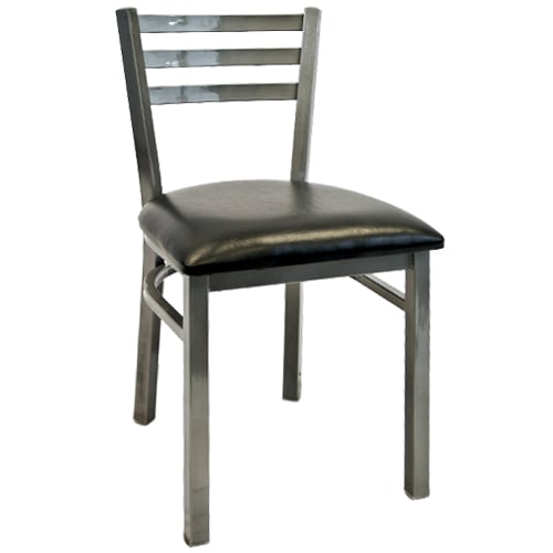 Light Silver Metal Ladder Back Chair