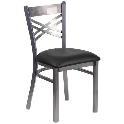Metal X Back Chair in Clear Coat Finish