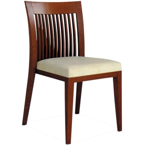 Harp Vertical Slat Back Wood Restaurant Chair