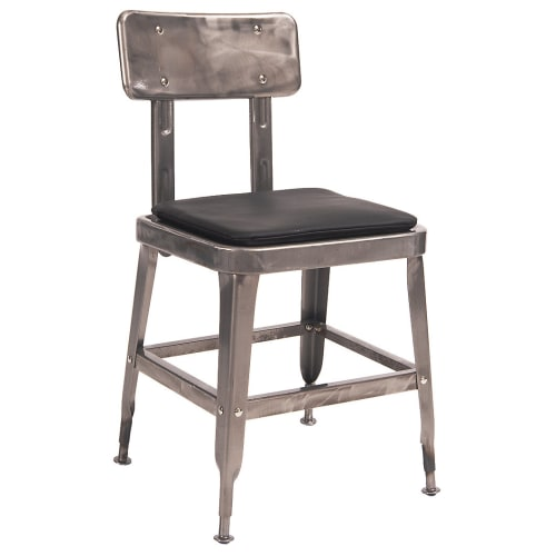 Laurie Bistro-Style Metal Chair in Clear Finish