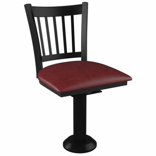 Vertical Slat Bolt Down Swivel Metal Chair