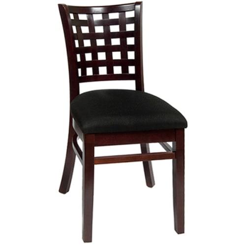 Lattice Back Wood Chair for Restaurants