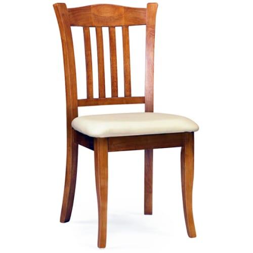 Custom Vertical Slat Wood Chair