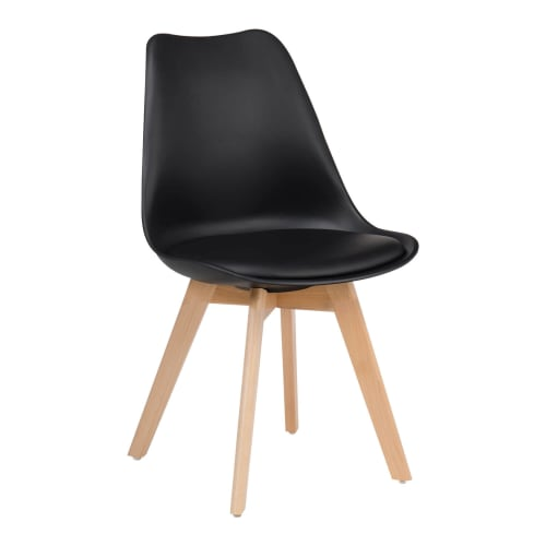 Nordic Style Wood Chair in Black
