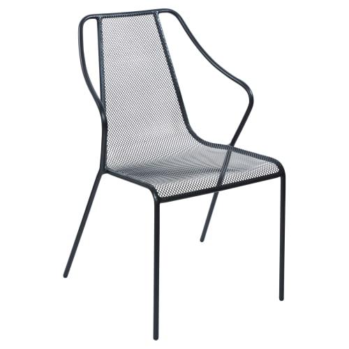 Modern Metal Mesh Patio Arm Chair