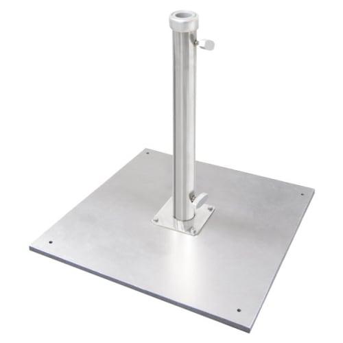 Galvanized Silver Premium Umbrella Base