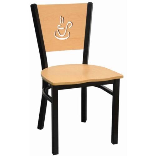 Coffee Cup Back Metal Chair