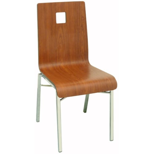 Deco Chair With Square and Chrome Frame