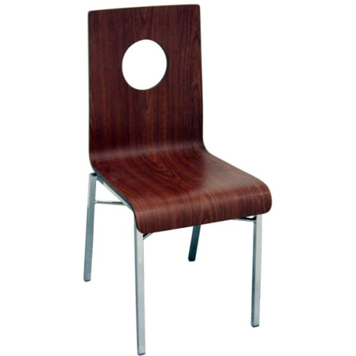 Deco Chair With Circle and Chrome Frame