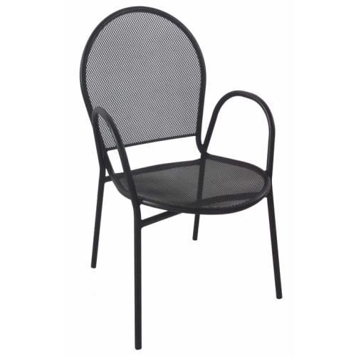 Nero Metal Patio Chair With Arms