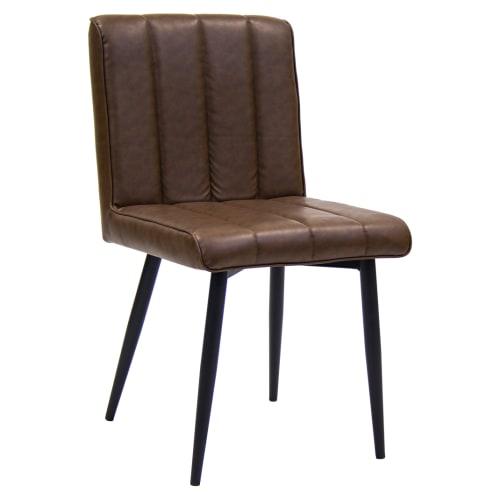 Erada Brown Vinyl Chair