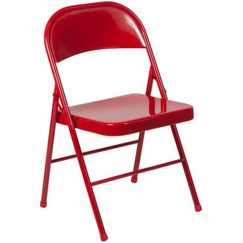 Double Braced Metal Folding Chair
