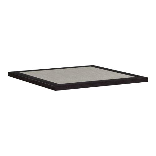 Laminate Inlay and Wood Edge Table Tops