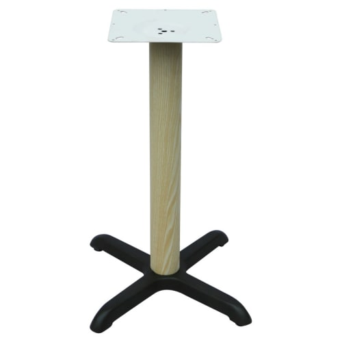 """Premium Wood Look X Prong Table Base (30"""" Table Height)"""