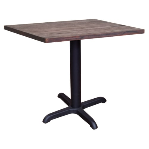 Industrial Series Restaurant Table with X Prong Base and Wood Top