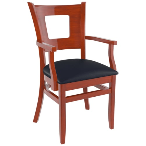 Premium US Made Duna Restaurant Chair With Arms