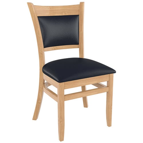 Premium  padded back restaurant wood chairs