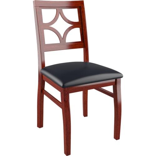 Designer Series Rio X Back - Mahogany Finish with a Black Vinyl Seat