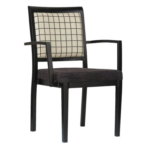 Gifford Wood Grain Aluminum Arm Chair