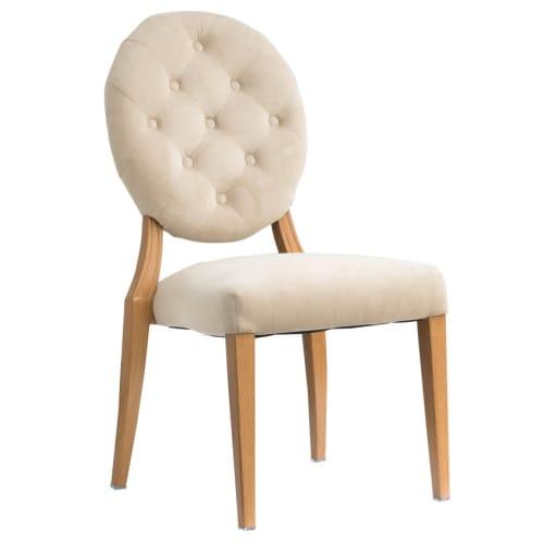 Julianna Button Tufted Back Upholstered Aluminum Chair