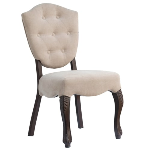 Lucy Button Tufted Back Aluminum Dining Chair