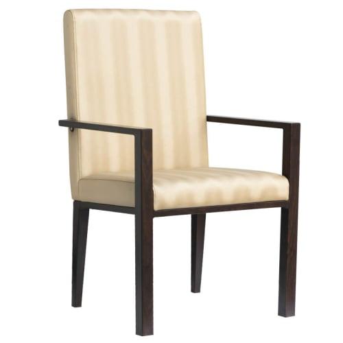 Celestino Deco Padded Aluminum Arm Chair