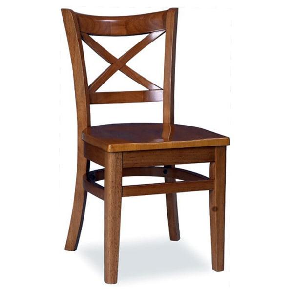 X Back wood restaurant chair
