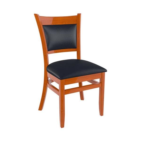 Padded Back Wood Restaurant Chair