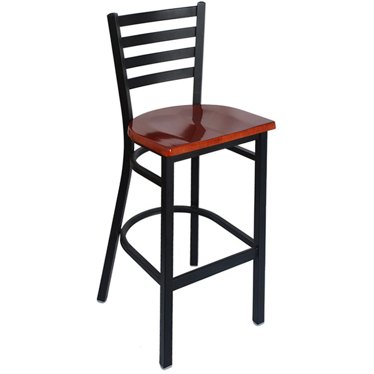 Sensational Ladder Back Metal Bar Stool Short Links Chair Design For Home Short Linksinfo