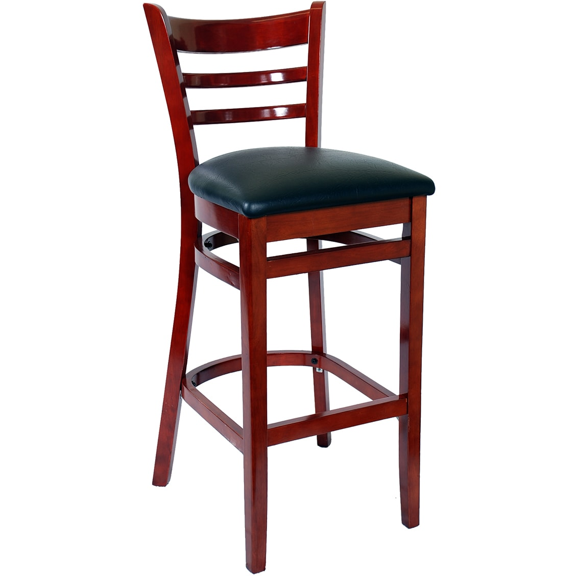 Amazing Ladder Back Wood Restaurant Bar Stool Andrewgaddart Wooden Chair Designs For Living Room Andrewgaddartcom