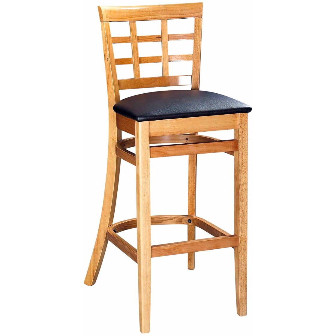 Picture of: Window Back Wood Bar Stool