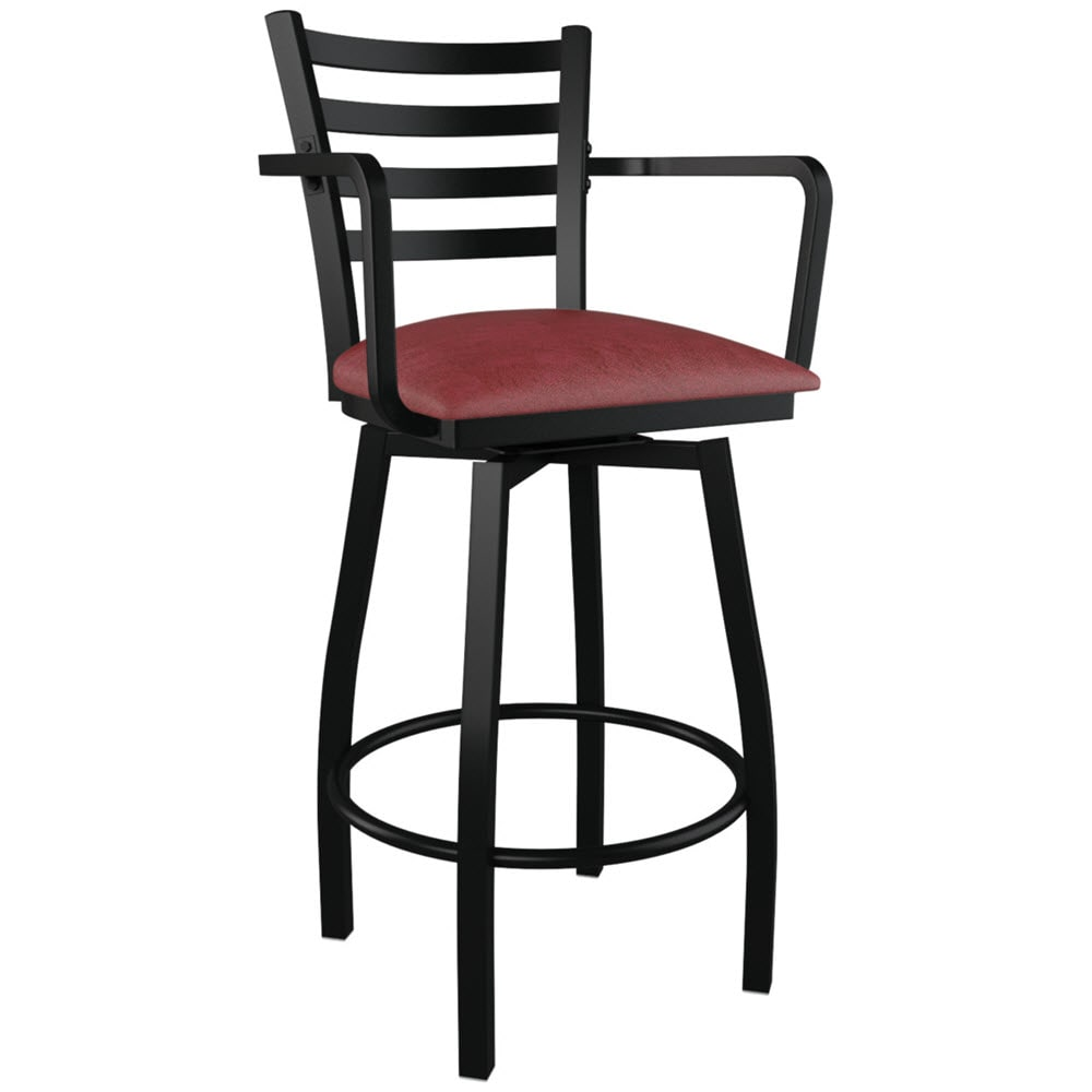 Enjoyable Swivel Ladder Back Metal Bar Stool With Arms Machost Co Dining Chair Design Ideas Machostcouk
