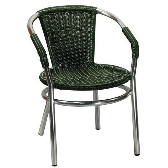 Aluminum Patio Arm Chair With Faux