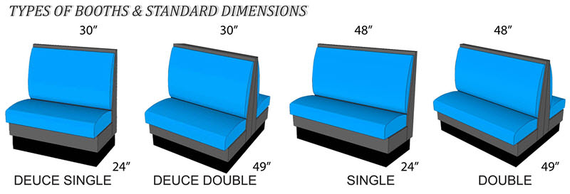 Restaurant booths dimensions