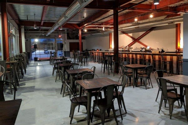 restaurant patio furniture on location