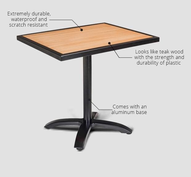 Plastic Teak Table Tops