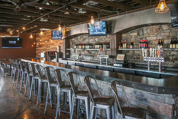 bistro style restaurant bar stools