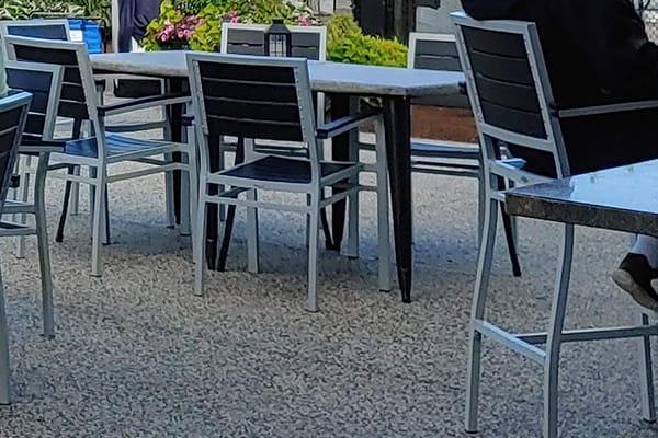 aluminum faux teak patio furniture