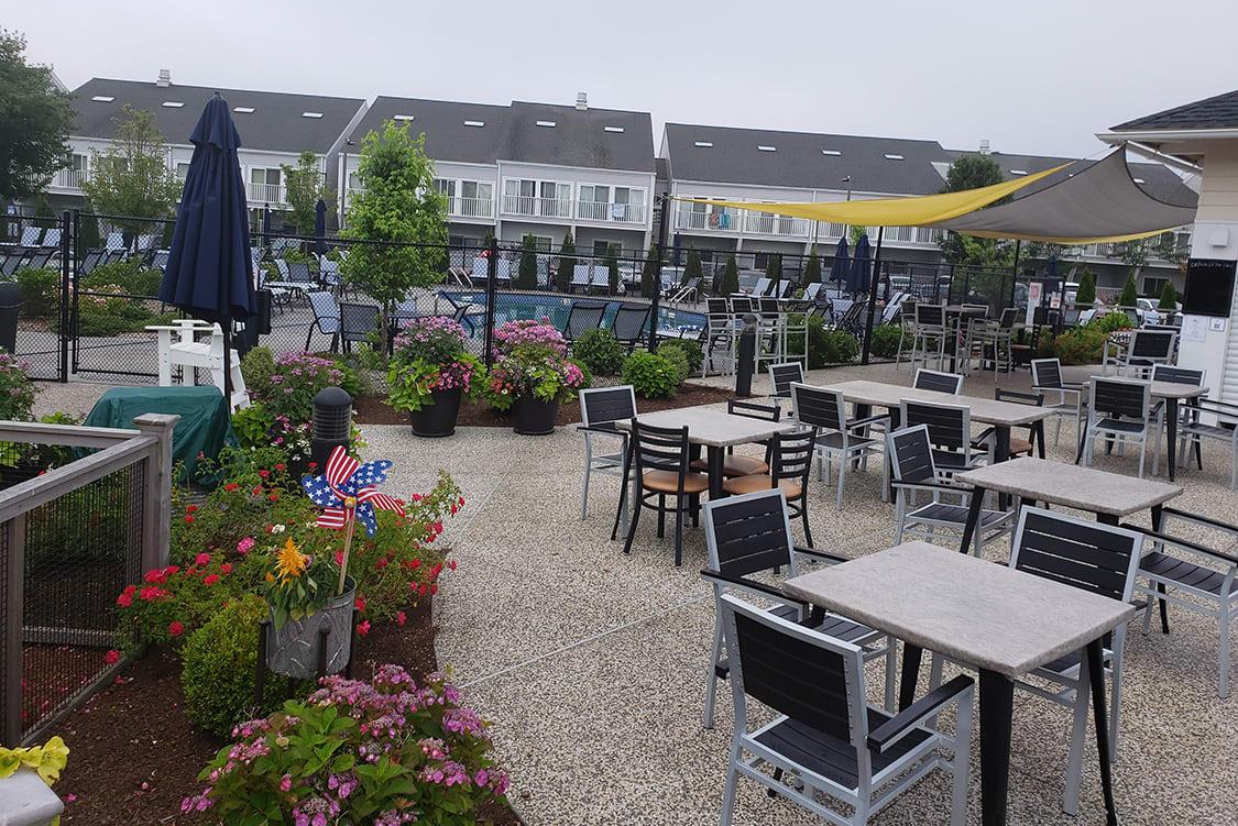 Outdoor restaurant setting