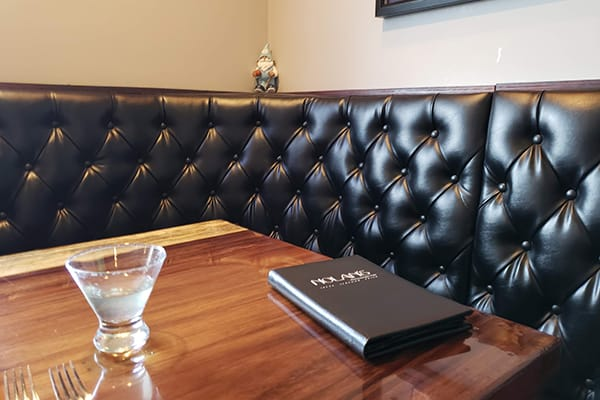 Button Tufted Back Restaurant Booths