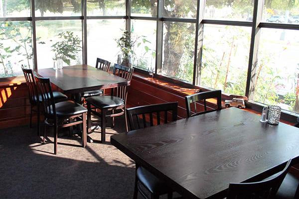 elongated vertical slat restaurant chairs