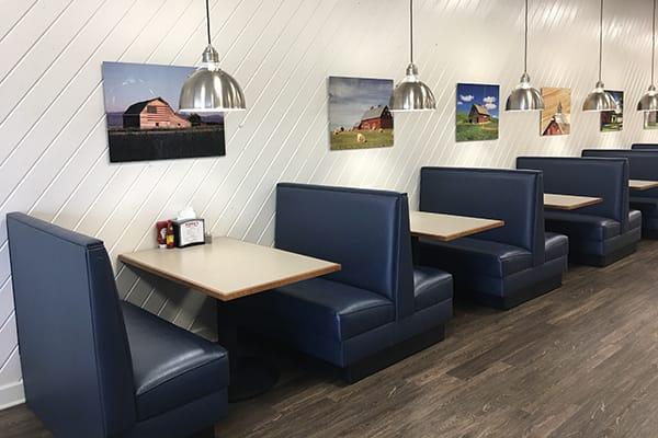 plain back restaurant booths